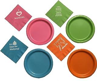 Mahjong Mah Jongg Napkins and Plates Party Pack Set of 20