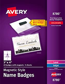 Best avery magnetic name badges Reviews