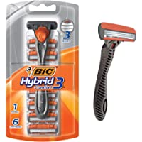BIC Hybrid3 Comfort Men's Disposable Razor (1 Handle 6 Cartridges)