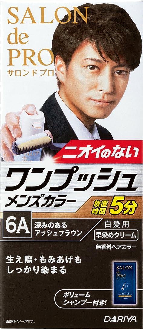 ルール消毒剤強調サロン ド プロ ワンプッシュメンズカラー (白髪用) 6A <深みのあるアッシュブラウン>