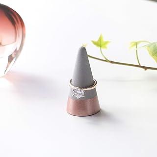 Atelier Ideco - Porta Dipinta Anello in Cemento in Oro Rosa. Gioielli Stare in Piedi, Alliance Support