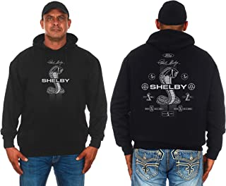 JH DESIGN GROUP Men's Carroll Shelby Pullover Hoodie Front and Back Logo Sweatshirt
