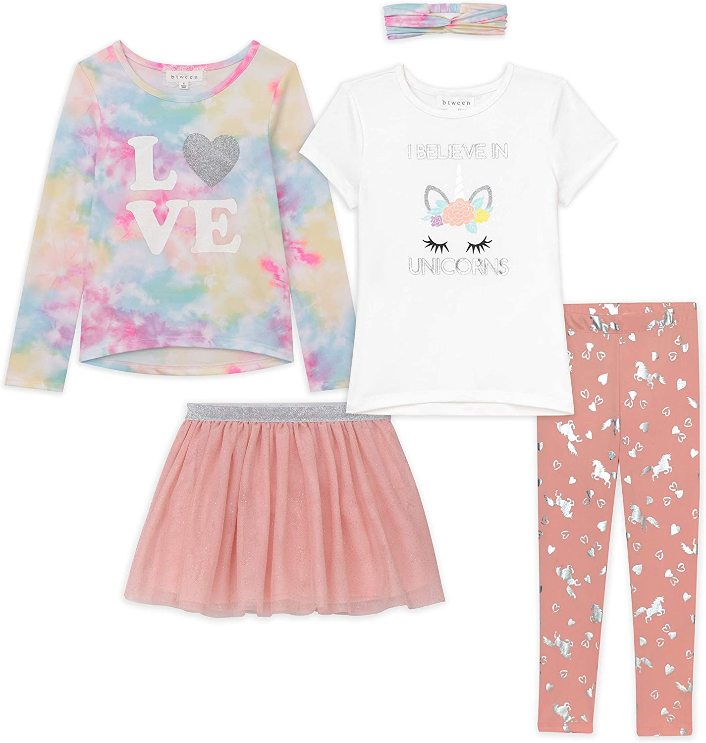 Btween Girls Kids Fall Clothing and Max 50% OFF Accessory Deluxe And Mix Set- M 5pc