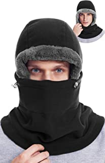 DIMPLES EXCEL Balaclava Fleece Hood Cold Weather Face Mask for Men and Women