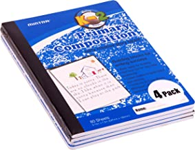 Mintra Office Composition Books, Notebooks, Primary Ruled, Creative, Hardcover, Grade K-2, 4 Pack