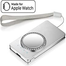 Portable Charger Compatible with Apple Watch Series 4 3 2 1,Travel Friendly Magnetic Chargers Built in 1000 mah Smart Pocket for iWatch (Silver)