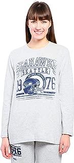 Ultra Game NFL Women's Soft Knit Lounge Sleep Tee Shirt Pajamas