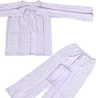 COSMOS_K お世話しやすい機能的介護パジャマ サッと開閉! ラグラン袖で動きやすい 上下セット 女性 レディース パープル ふじ色 紫色 (Mサイズ)