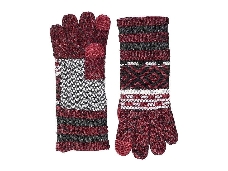 Smartwool Dazzling Wonderland Gloves (Tibetan Red) Extreme Cold Weather Gloves