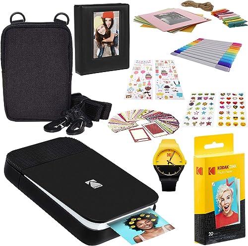 high quality KODAK Smile Instant Digital Printer outlet online sale (Black/White) Photography Scrapbook Kit online sale Watch outlet online sale