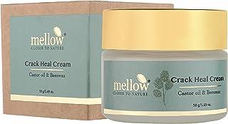 Mellow Herbals Ayurvedic Crack Heal for Rough & Cracked Heels   Foot Healing cream with Beeswax, Til & Arandi Oil   Ayush ...