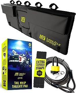 Tail Whip Tailgate Pad for Trucks – Waterproof Pickup Protector (Bike Rack or Pads) – eMTB, Mountain Bike, BMX, Bicycle, B...