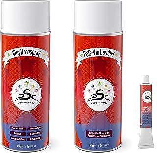 Set 3: 400ml vinylverf spray & 400ml kunstlederen reiniger & 8gr vloeibaar leer tube geschikt voor Audi Tuscan voor het kl...