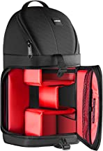 Neewer Professional Camera Storage Sling Bag Waterproof Shockproof Tearproof Partition Protection Case for Canon Nikon Sony Pentax Olympus Fujifilm Panasonic DSLRs and Mirrorless Cameras Red Interior