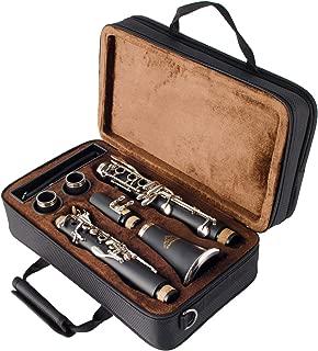 EastRock Beginner Student Clarinet with 2 Barrels and Case Bb Clarinet Nickel Keys 17