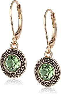 Best green stone drop earrings gold Reviews