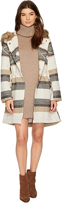 BB Dakota - Ryker Faux Fur Hooded Coat