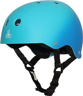 Triple Eight Sweatsaver Liner Skateboarding Helmet,  Blue Fade Rubber,  Medium