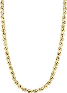 10k Yellow Gold Rope Chain Necklace (Width 3.0 mm) (Length: 18