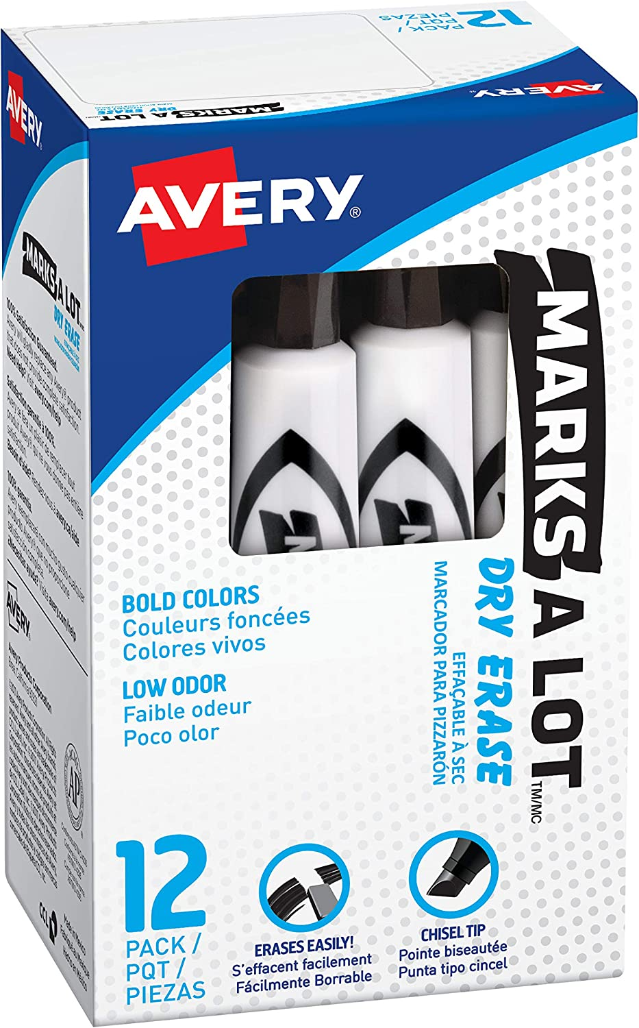 Max 60% OFF Avery low-pricing Marks A Lot Dry Erase Markers Low Odor Board Marker White