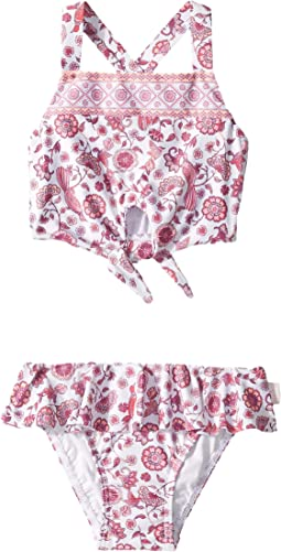 Bohemian Jardin Tie-Front Tankini (Toddler/Little Kids)