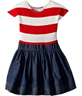Stripe Abbie Dress (Little Kids/Big Kids)