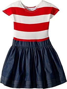 fiveloaves twofish Stripe Abbie Dress (Little Kids/Big Kids)