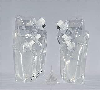 Rum Runner Genuine Tailgater Kit 2 32oz, 2 16oz and 2 8oz Flasks Plus a Funnel