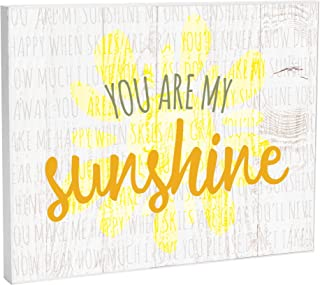 Elanze Designs You are My Sunshine Baby 10 x 8 Wood Print Overlay Wall Art Sign Plaque