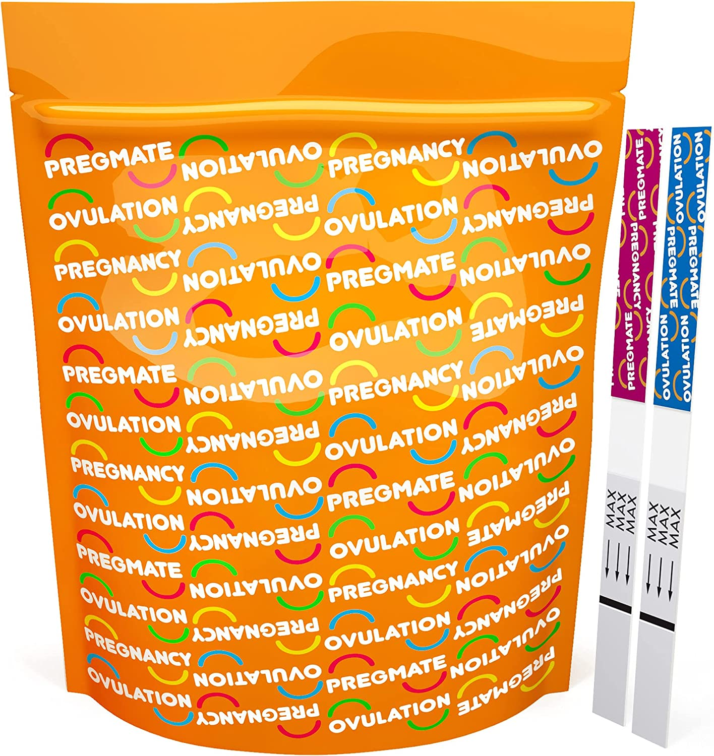 PREGMATE 60 Ovulation and 30 Pregnancy Test Strips Predictor Kit
