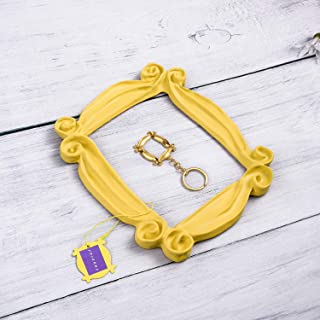 Peephole Frame, Like Monica's Door Frame,100% Handmade Yellow Door Frame What You Want and It's Great Present for a Fan