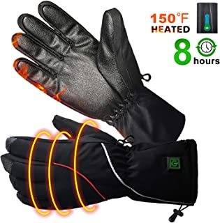 BIAL Heated Warm Gloves Men & Women,Rechargeable Powered Li-ion Battery Heated Glove up 3.5-8 Hours,Cold Weather Exercise Gloves for Cycling Motorcycle Hiking Skiing Mountaineering (Black, XL)