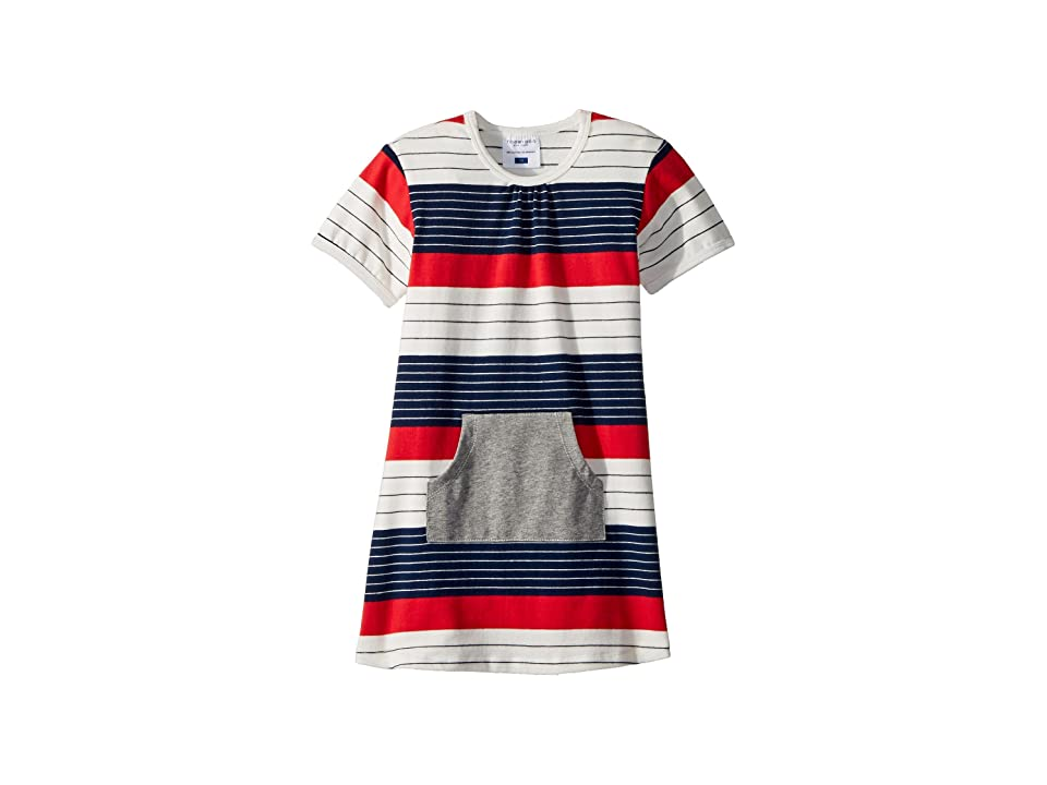 Toobydoo Stars and Stripes Pocket Dress (Infant/Toddler) (Red/White/Navy) Girl