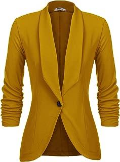 Best mustard color blazer Reviews