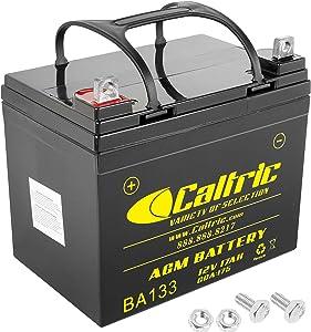 Caltric AGM Battery Compatible with John Deere D100 D105 D110 D120 D125 D130 D140 D150 D160 D170