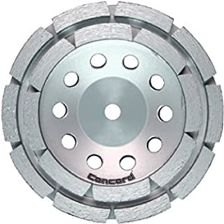 Concord Blades GCD040FCP 4 Inch Double Row Diamond Cup Wheel with 5/8