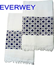 Everwey Enterprise Large Size Extra Soft White Pure Cotton Towel Set of 2 (30 inch x 60 inch) Multi Colour