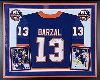 Mathew Barzal New York Islanders Deluxe Framed Autographed Blue Fanatics Breakaway Jersey - Fanatics Authentic Certified
