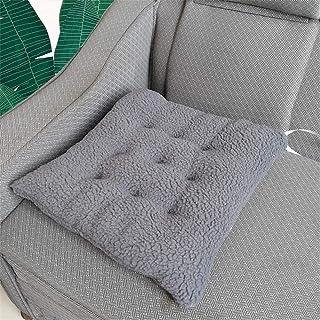 Felpa Silla de comedor Cojines con lazos cuadrado de la silla de ratón de cocina Sillas de jardín Espesar cojines del asiento del asiento sólido color al aire libre suaves almohadillas acolchadas coji