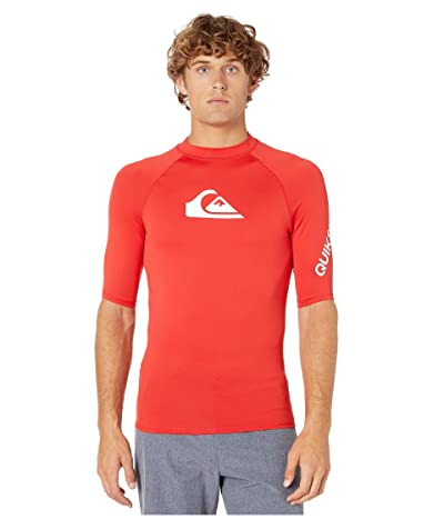 Quiksilver All Time Short Sleeve Rashguard (High Risk Red) Men
