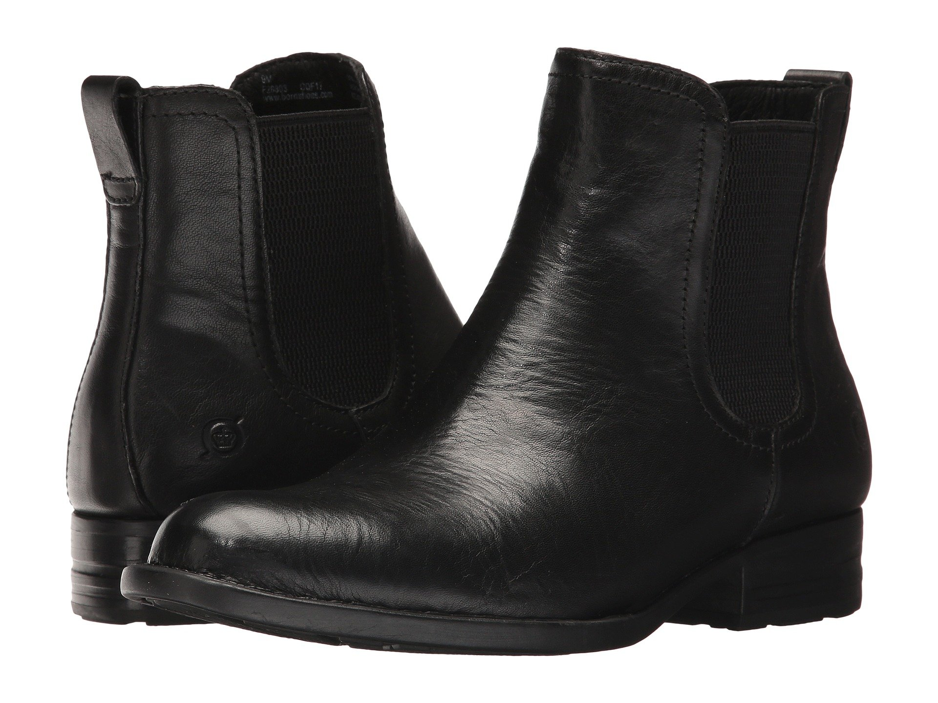 Womens Born Kelisa Boots Black Full Grain Leather NTV57086