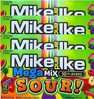 NEW Mike & Ike Mega Mix Sour Gluten Free/Fat Free Candies Net Wt 5oz (4)