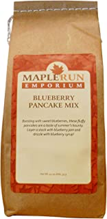 Maple Run Emporium Blueberry Pancake Mix–Made with Real Blueberries–Gourmet Flour Blend for the Best Pancakes and Waffles–Make Breakfast Classics from a Mini Silver Dollar to a Belgian Waffle–24oz Bag