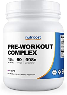 Nutricost Pre-Workout Complex Powder Grape (60 Serv)