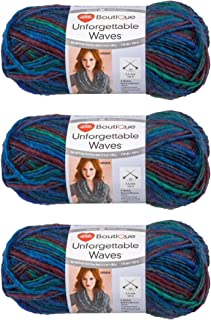Red Heart Yarn Bulk, Unforgettable Waves, Pack of (3) from Same Dye Lot (Aurora)