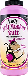 Lady Anti Monkey Butt | Women's Body Powder with Calamine | Prevents Chafing and Absorbs Sweat | Talc Free | 6 Ounces | Pa...