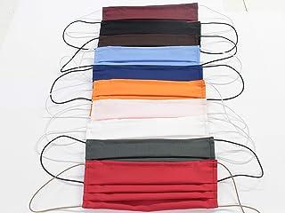 10 Mascherine artigianali in doppio strato di puro cotone colori assortiti con tasca per inserimento ulteriore protezione ...
