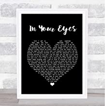 #Peter #Gabriel #in Your Eyes Black Heart Song Lyric Print Poster Wall Art Home Decor Gifts for Lovers Painting