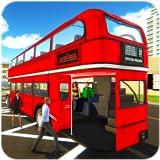 バスドライバーをオフに登るバスゲームシミュレーター:実際の都市のバスバスドライバージャンボーの車素晴らしいインテリアのルート関節式のダブルスクールバス砂漠二重雪山環境