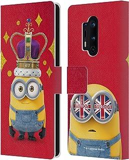 Head Case Designs Licenciado Oficialmente Minions Corona de Bob Minion Invasión Británica Carcasa de Cuero Tipo Libro Comp...